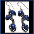 Silver Plated Quartz Blue Fashion Earrings