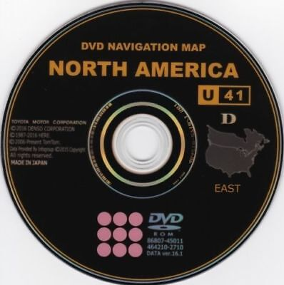 (New 2017 Gen 5 Toyota Lexus Navigation Map Update DVD Ver 16.1 U41 East AND West)