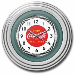 Wall Clock Vintage Coca-Cola Chrome Home Decor Art Retro Kitchen Time Class