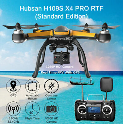 Hubsan H109S X4 Pro 5.8G FPV Brushless RC Quadcopter 1Gimbal...