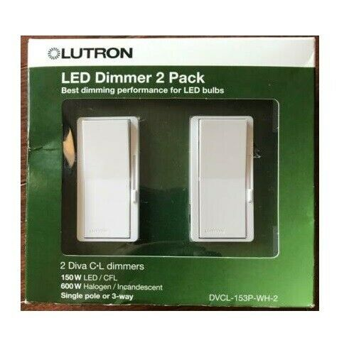 Lutron DVCL-153P-WH-2 LED Dimmer - 2 Pack