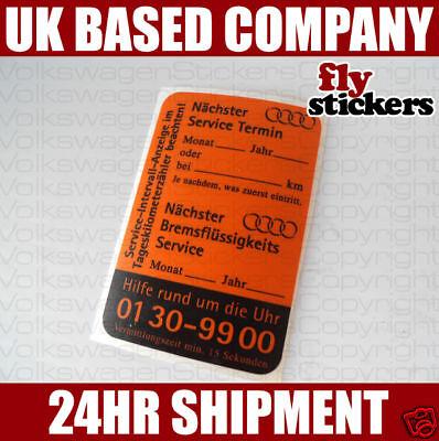Retro Audi Dealer Service Sticker Audi 80 50 Quattro
