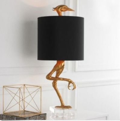 Ibis Table Lamp Heron Crane Bird Whimsical Table Lamp - 05206 Black Shade