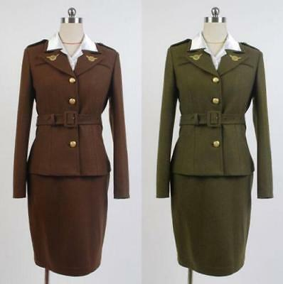 New Avengers Captain America Agent Peggy Carter Cosplay - Peggy Carter Cosplay Kostüm