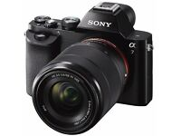 Sony Alpha A7 24.3mpx | Box | Kit Lens | 2 Additional Canon Lenses | Bag | Canon Adapter | Battery