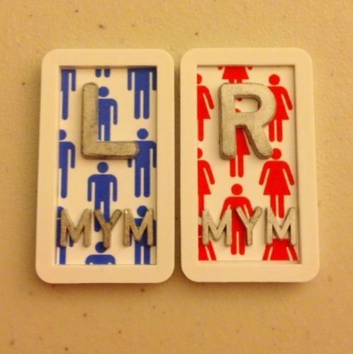 """Set of A WOMAN IS ALWAYS """"RIGHT"""" X-Ray Marker Set Radiology Lead Xray Girl"""