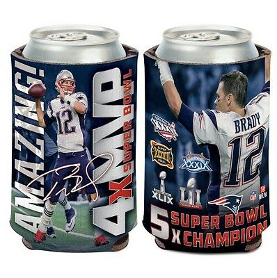 Tom Brady New England Patriots 4 Time Super Bowl Mvp Can Coozie Koozie Cooler