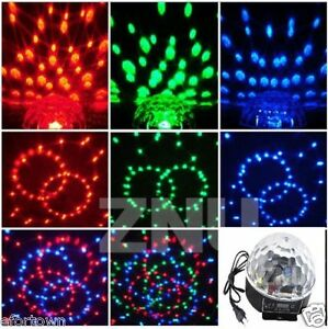 dj jeu de lumi re rgb led clairage disco projecteur boule cristal lampe dmx eu ebay. Black Bedroom Furniture Sets. Home Design Ideas