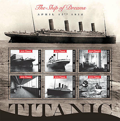 Uganda 2012 - R.M.S. 100th Anniversary Titanic - Sheet of 6 MNH