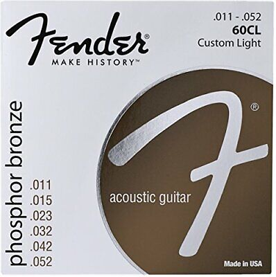 Fender 60CL Phosphor Bronze Acoustic Guitar Strings - CUSTOM LIGHT 11-52
