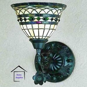TIFFANY STYLE HANDCRAFTED UPLIGHTER / WALL LIGHT ( Stunning quality )