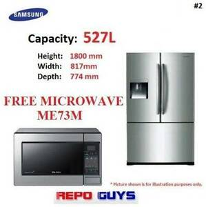 Samsung 527L French Door Fridge / With Free Samsung Microware Auburn Auburn Area Preview