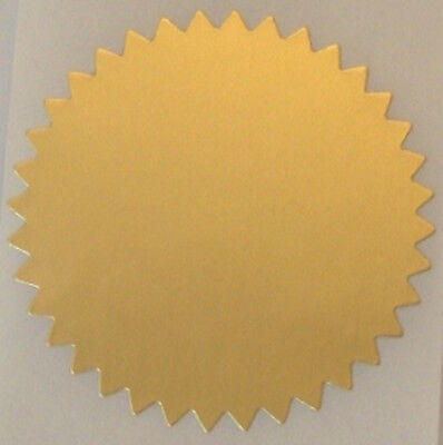 Dull Gold Foil Notary Certificate Seals 2 Inch Burst Roll Of 100 Seals