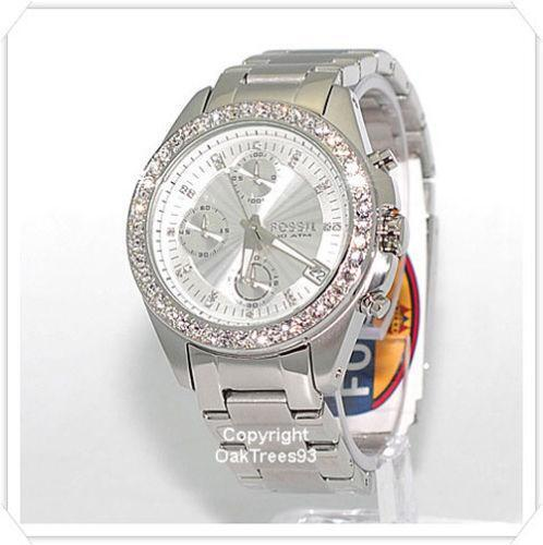 womens fossil watch silver ebay