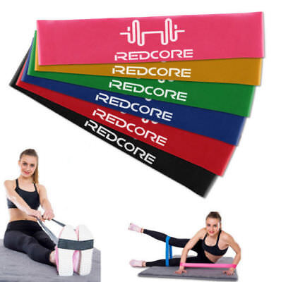 Set Of 6 Resistance Bands Loop Exercise Workout CrossFit Fitness Stretching Yoga