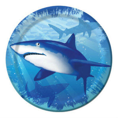 Shark Splash Dessert Plates - Birthday Party Supplies - Shark Birthday Supplies