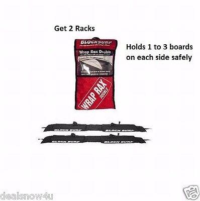 2 Surfboard Soft Wrap Roof Racks Rax Any Car Automobile SUV Minivan Van Sedan
