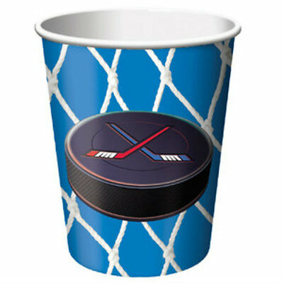 Hockey Party 9oz Cups (8) - Birthday Party Supplies - Hockey Birthday Party Supplies