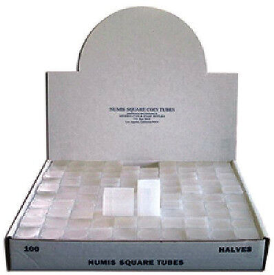 Numis Brand - Half Dollar Square Coin Tubes Storage (5pk)  on Rummage