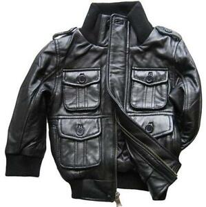 Childrens faux leather jacket