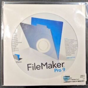 Needed: computer software: Filemaker Pro 9 for Mac.