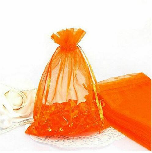 10pcs orange Organza Gift Bag Candy Jewellery Pouch Wedding Birthday 7x9cm