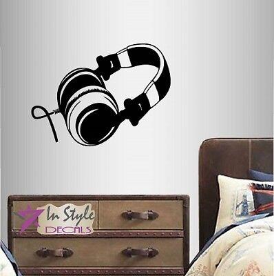 (Vinyl Decal Headphones Sound Music Audio Teen Bedroom Any Room Wall Sticker 774)