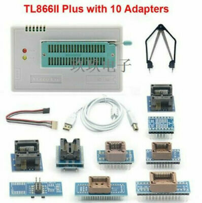 Xgecu Tl866ii Plus Programmer 10 Adapters For Spi Flash Nand Eprom Mcu Pic Avr