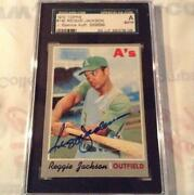 Reggie Jackson Signed Card