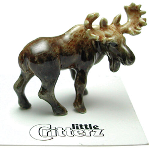 ➸ LITTLE CRITTERZ Forest Animal Miniature Figurine Moose Bull