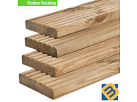 Treated Timber Decking Boards Pressure Treated Timber 5 inch 125mm x 32mm