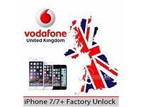 Vodafone UK Unlocking - iPhone 7 / 7 Plus