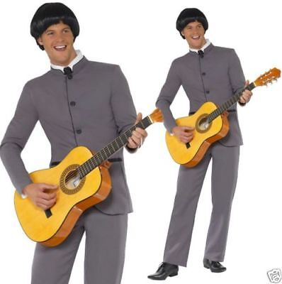 Mens 1960s Fab Four Beatles dressing up costume outfit 60 icon party - Beatles Party Kostüm