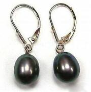 Black Akoya Pearl Earrings