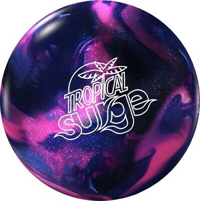 NEW Storm Tropical Surge Reactive Resin Bowling Ball, Pink/Purple, 10-12 LB - Purple Bowling Ball