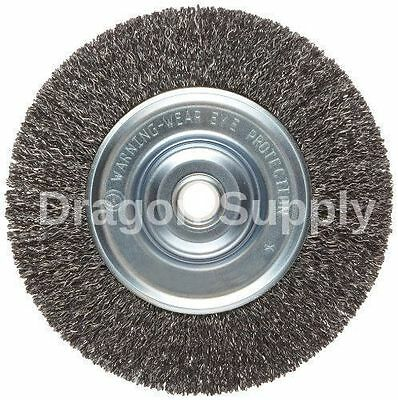 "New 6"" Steel Wire Wheel Brush FOR Bench Grinders w / 1/2"" Arbor"