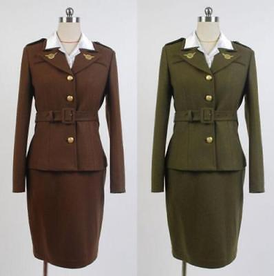 Avengers  Agent Peggy Carter Cosplay Costume 2 Colors - Avengers 2 Costumes