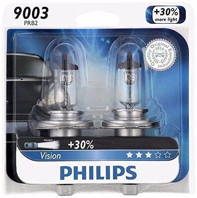 (2x Philips 9003 H4 Upgrade Bright Vision Halogen Light Bulb 67/60W GERMANY Beam)