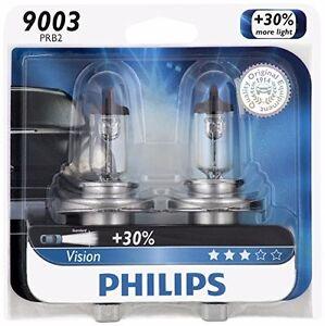 2x Philips 9003 H4 Upgrade Bright Vision Halogen Light Bulb 67/60W GERMANY Beam