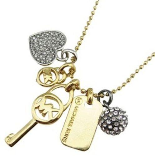 kors michael necklace luxe pendant p curb gold ebay authentic s