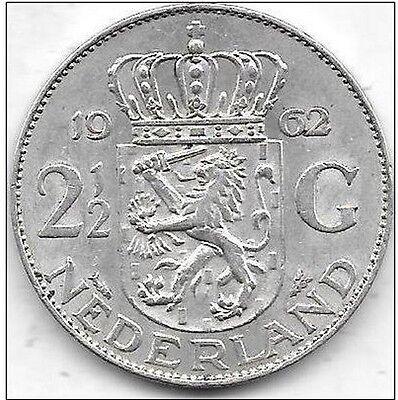 2 1/2 Gulden argent 1962 Qualité