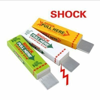 3 Electric Shocking Chewing Gum Toy Gift Shock Joke Gadget Prank Funny Trick Gag