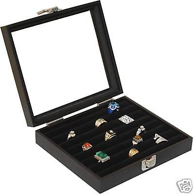 New 36 Ring Box Ring Case Jewelry Storage Display Organizer