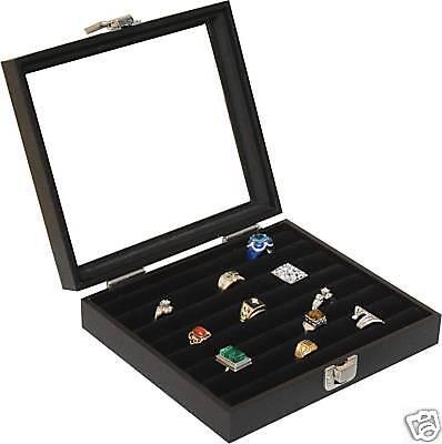 New 36 Ring Box Ring Case Jewelry Storage Display Organizer