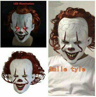 Halloween Maske ES Clown Kostüm Vollkopf Karneval Party Cosplay DHL 2020 EG
