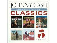 johnny cash classics 5 albums sealed.