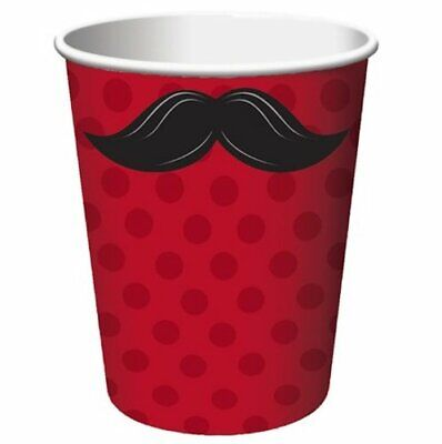 Mustache Themed Birthday (Mustache Madness Moustache Theme Adult Kids Birthday Party 9 oz. Paper)