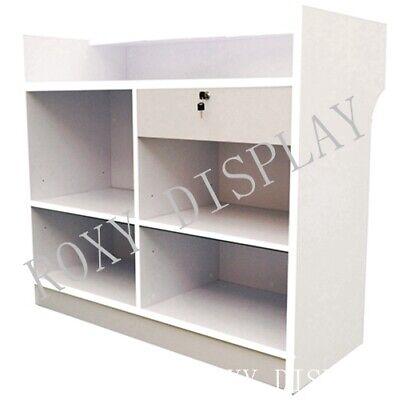 White Ledgetop Counter Showcase Display Store Fixture Knocked Down Ltc4wx