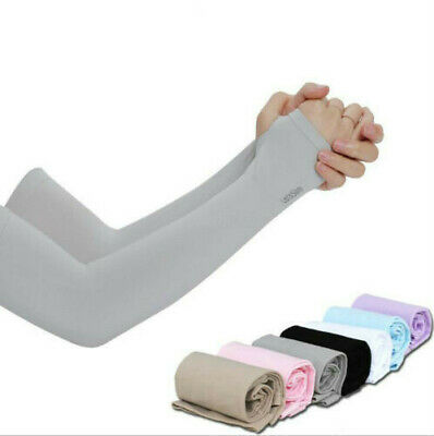 Cooling Arm Sleeves Cover Sports UV Sun Protection Outdoor Unisex