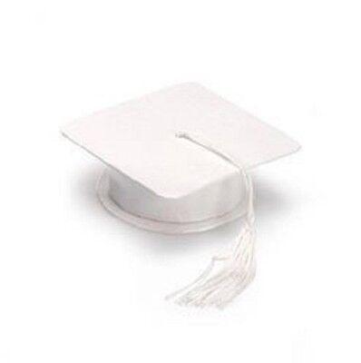 WHITE GRADUATION HAT TRINKET FAVOR BOX 30mm x25mm   B18](Graduation Hat Favor Boxes)